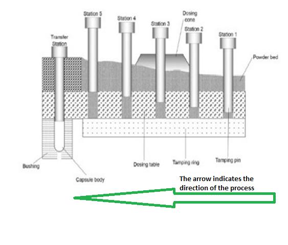 tamping pin capsule filling machine vs  dosator type