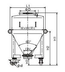 LDC Round IBC Bin drawing