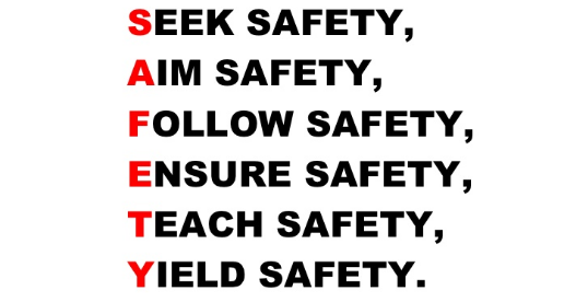 Johnson's safety slogan