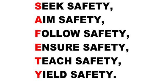 Johnson's safety slogan