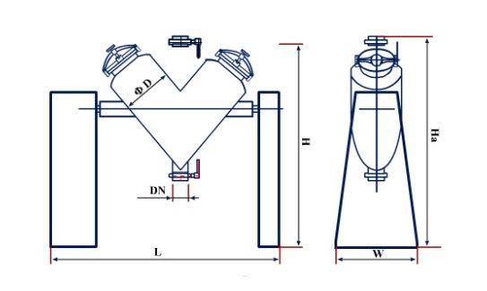 V con mixer drawing