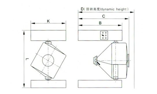 square cone mixer drawing