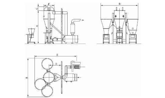 DPL Fluid Bed Dryer Granulator and Coater drawing