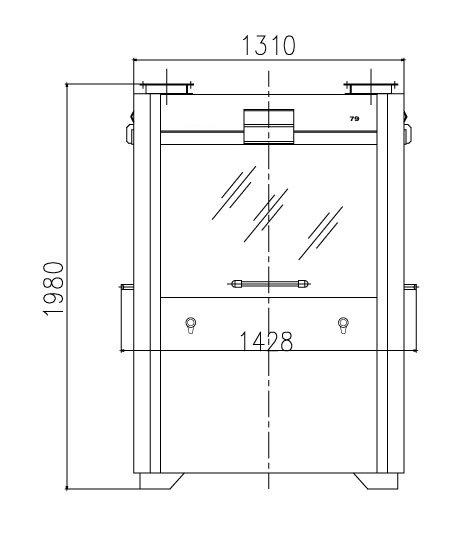 Dimensions of a MagnaTab machine
