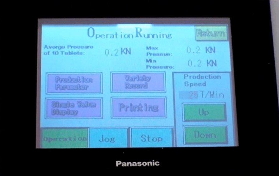 A PLC control terminal for OneTab table press machine