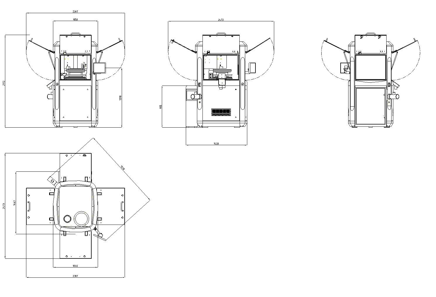 smart s-tablet press dimensions