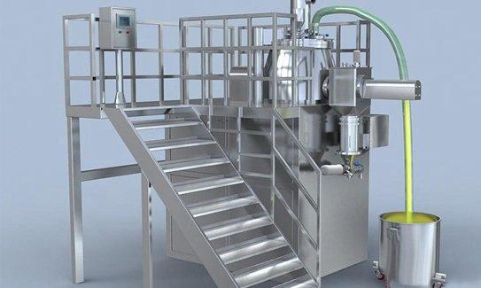 A wet granulation machine