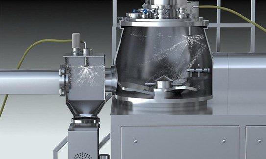 Parts of high shear granulation machine