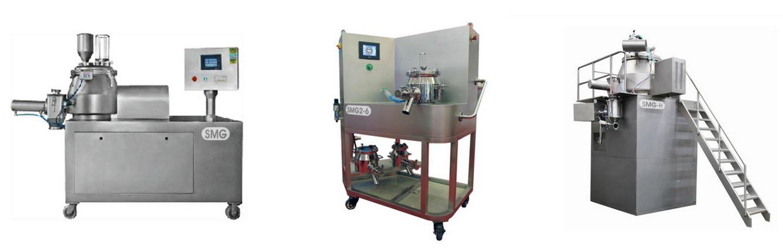 Types of high shear wet granulation machines
