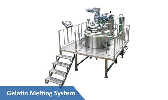 Soft gelatin melting system