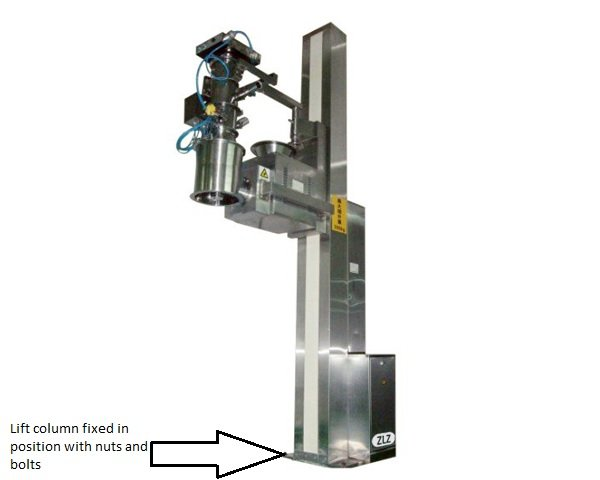 Fixed lift column equipment