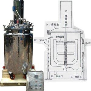 Internal section of gelatin melting tank
