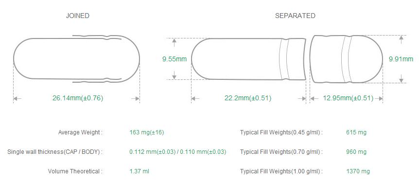 2-piece capsules