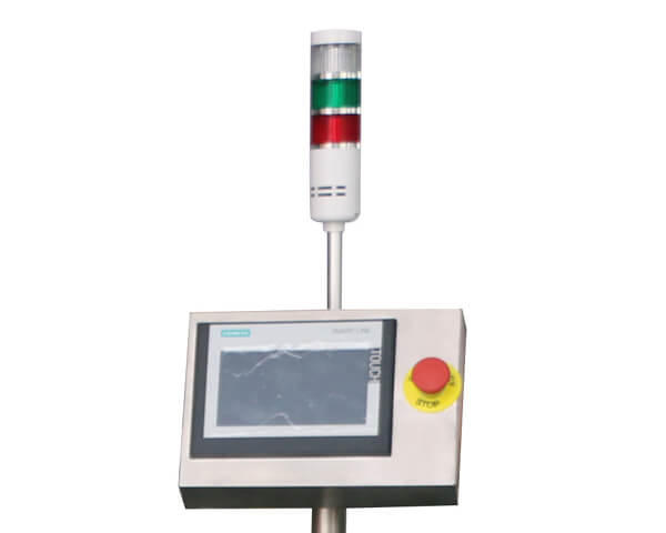 Control panel for automatic labeling machine