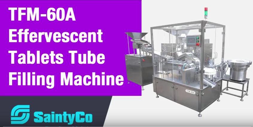 SaintyCo Effervescent tablet tube filling machine