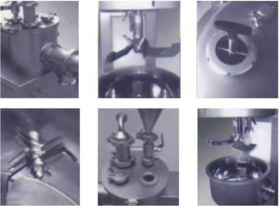 High shear mixer components