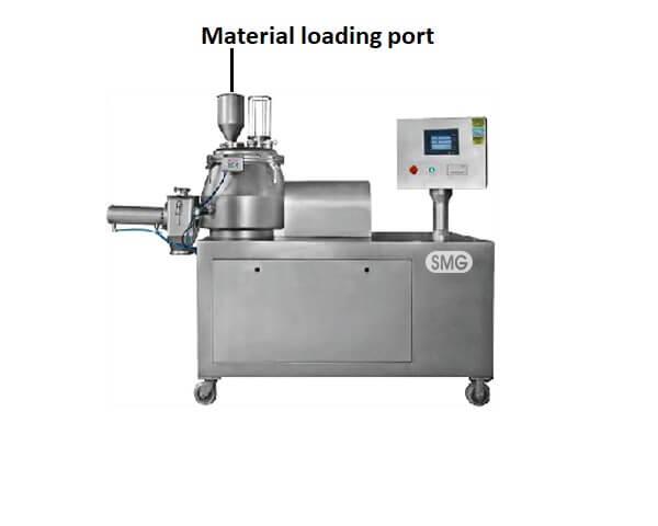 Material loading port