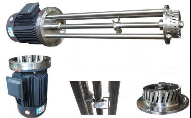 High shear mixer parts made of stainless steel