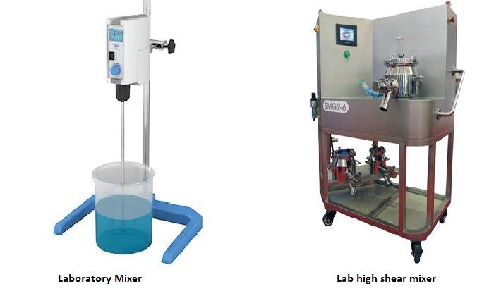 Types of laboratory mixer