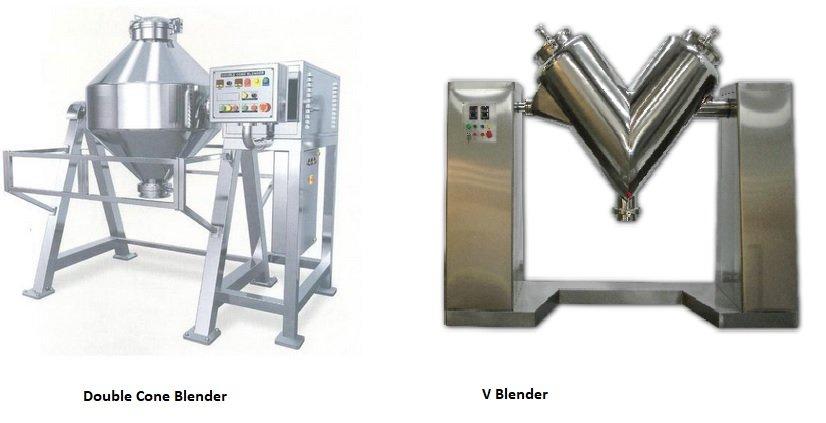 Double cone blender vs V blender
