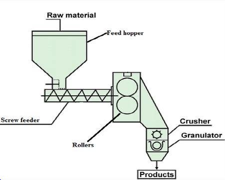 Roller compaction screw