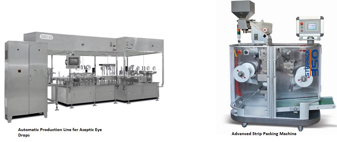 Different pharmaceutical packaging machines