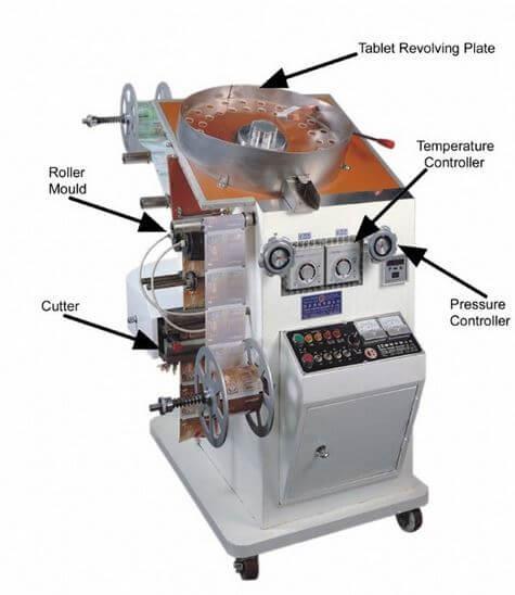 Rotary strip packing machine