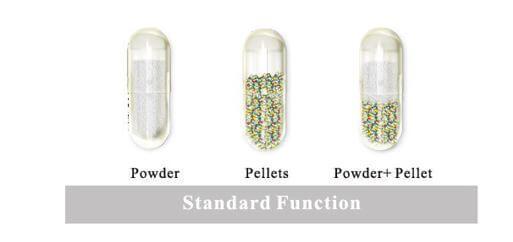 Hard gelatin capsules content