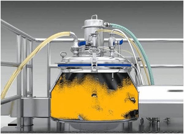 Inside high shear mixer granulator
