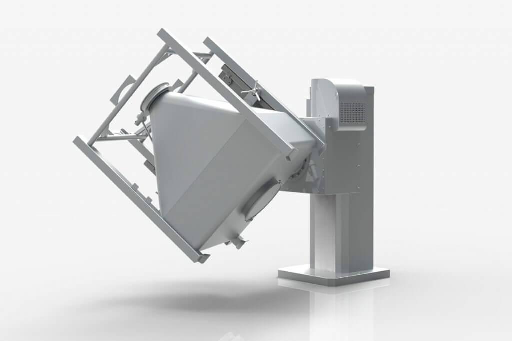 High speed bin mixing machine
