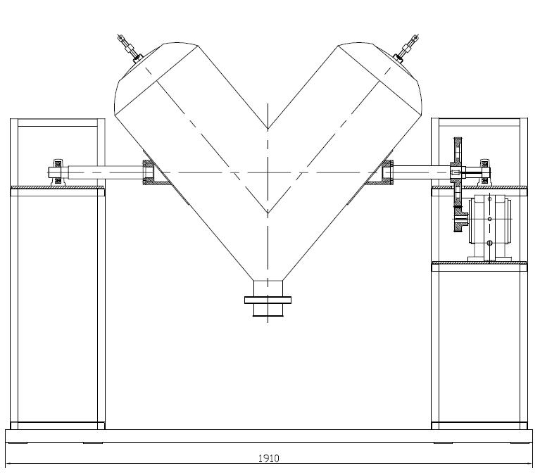 V mixer equipment